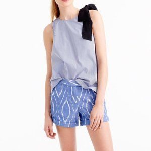 J Crew | Sunfaded Cotton Ikat Cuffed Short 00R